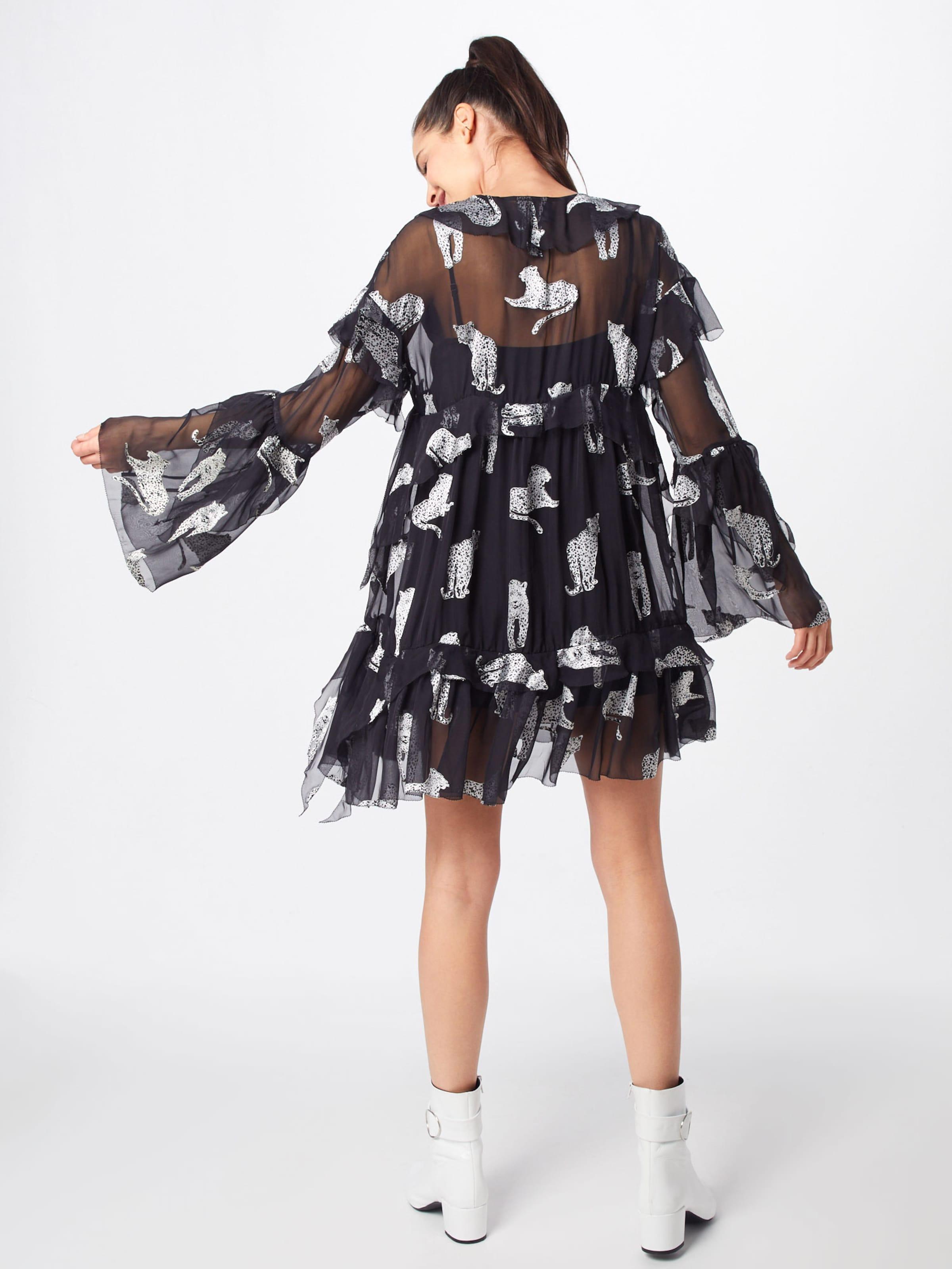 Kleid 'frob18039k' In SchwarzNaturweiß Kooples The OPTXZuik
