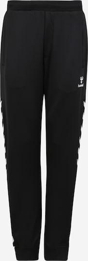 Pantaloni sport Hummel pe negru / alb, Vizualizare produs