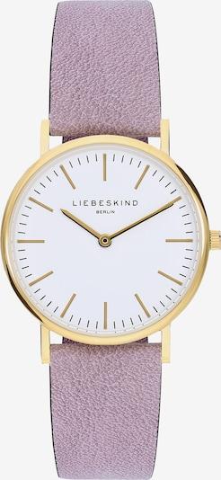 Liebeskind Berlin Uhr in gold / helllila / weiß: Frontalansicht