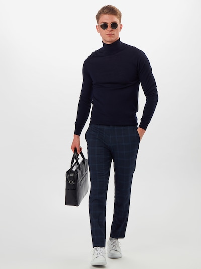 BURTON MENSWEAR LONDON Hose 'SKF' in navy, Modelansicht