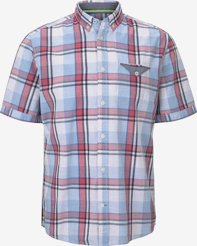 TOM TAILOR Hemd in hellblau / pitaya / weiß, Produktansicht