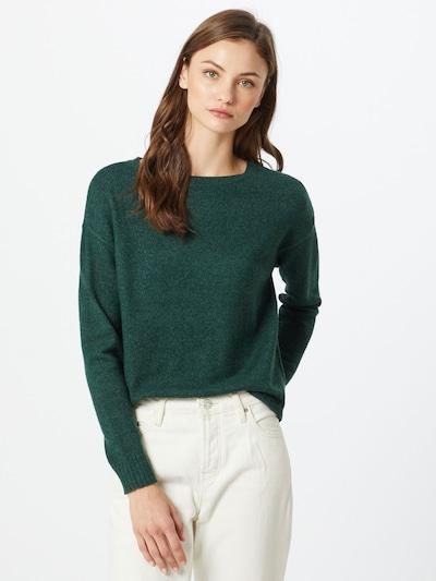 VILA Pullover in dunkelgrün: Frontalansicht