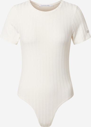 Calvin Klein Jeans Koszula body 'RIB' w kolorze białym, Podgląd produktu