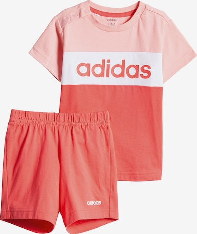 ADIDAS PERFORMANCE Set T-Shirt + Caprileggings in pink / pitaya / weiß, Produktansicht