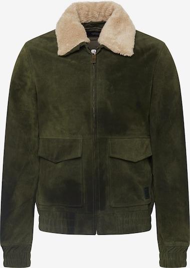 SCOTCH & SODA Tussenjas 'Suede pilot jacket' in de kleur Olijfgroen, Productweergave