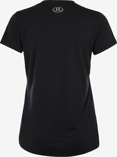 UNDER ARMOUR Fitness-Shirt 'Tech Solid' in silbergrau / schwarz: Rückansicht