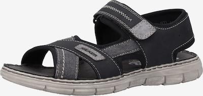 RIEKER Sandalen in dunkelgrau / schwarz, Produktansicht
