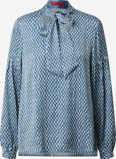 HUGO Blouse 'Cisoni' in de kleur Smoky blue / Wit, Productweergave