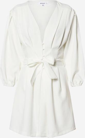Missguided Ljetna haljina 'Plunge Self Button Belted Mini Dress' u bijela, Pregled proizvoda