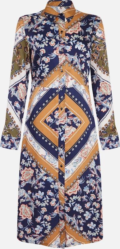London 'scarf Dress' Mela D'été Robe MarineOcre Print Bleu Shirt En eWH9ED2bIY
