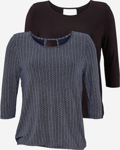 LASCANA Shirts in navy / schwarz, Produktansicht