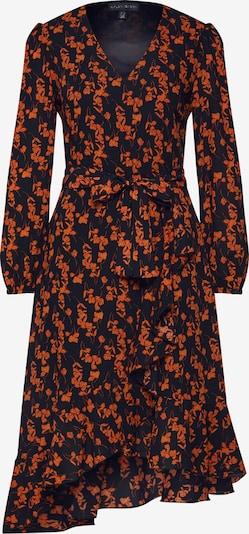 Mela London Kleid 'RUFFLE' in orange / schwarz, Produktansicht