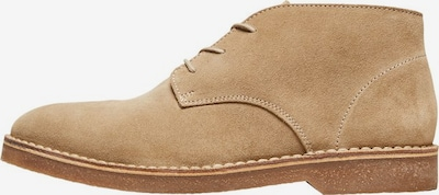 SELECTED HOMME Desert-Boots in beige: Frontalansicht