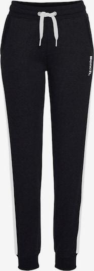BENCH Sweathose in schwarz / weiß, Produktansicht