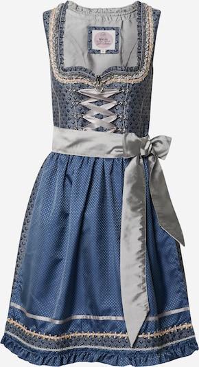MARJO Dirndl '013 Mirena' w kolorze niebieski / mieszane kolory / srebrnym, Podgląd produktu