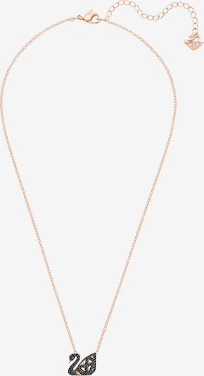 Swarovski Kette 'Swan' in gold / schwarz / transparent, Produktansicht