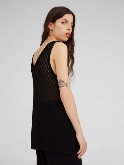 Top 'Claudine' EDITED pe negru: Privire spate