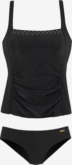 LASCANA Tankini in schwarz / weiß, Produktansicht
