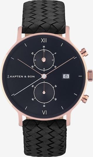 Kapten & Son Montre à affichage analogique 'Chrono Woven' en noir, Vue avec produit