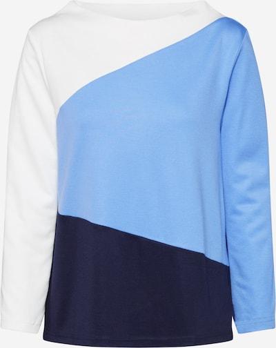 TOM TAILOR Pullover in rauchblau / nachtblau / offwhite, Produktansicht