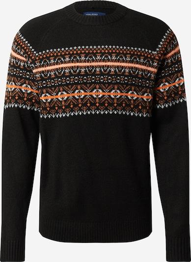 Megztinis iš BLEND , spalva - oranžinė / juoda / balta, Prekių apžvalga