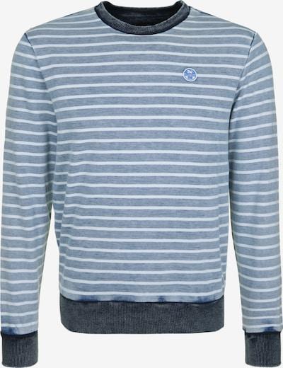 North Sails Sweatshirt in taubenblau / dunkelblau / weiß, Produktansicht