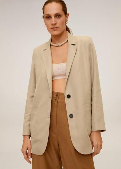 MANGO Blazer 'Bombay' in beige, Modelansicht