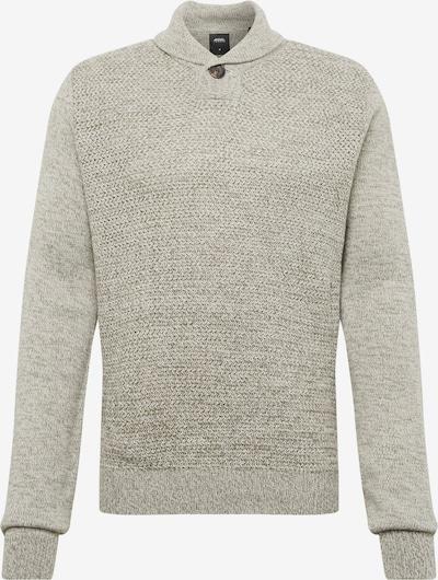 BURTON MENSWEAR LONDON Pullover 'purnell button shawl light grey' in grau, Produktansicht