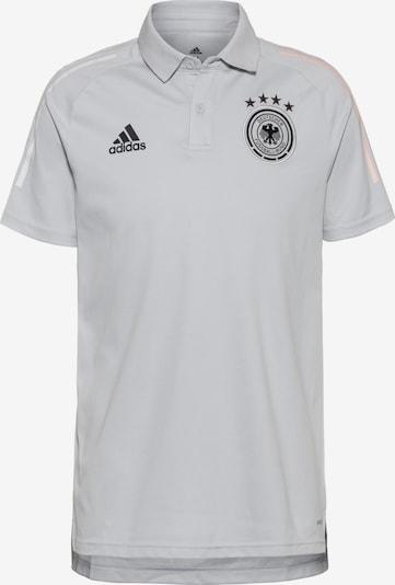 ADIDAS PERFORMANCE Poloshirt 'DFB EM 2020' in hellgrau / schwarz / weiß, Produktansicht