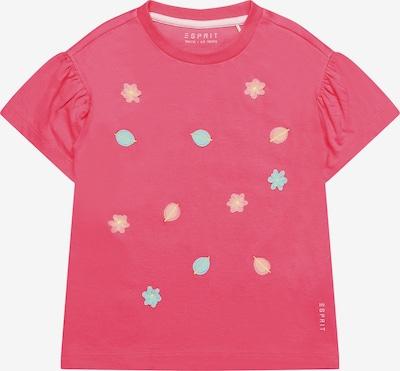 ESPRIT T-Shirt mit Blumen-Applikationen in pink, Produktansicht