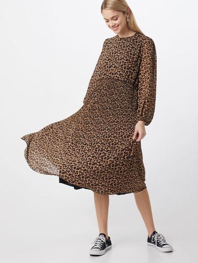 Neo Noir Kleid 'Nora Leo Dress' in braun / schwarz, Modelansicht