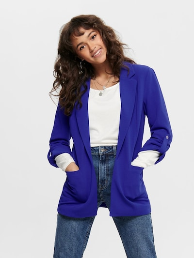 ONLY Long Blazer in blau, Modelansicht