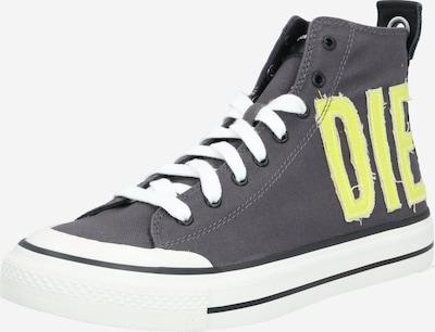 DIESEL Sneaker 'Astico' in gelb / dunkelgrau, Produktansicht