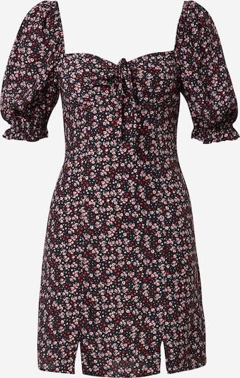 Tally Weijl Obleka | rosé / grenada / črna / bela barva, Prikaz izdelka
