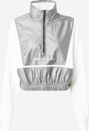 Nike Sportswear Bluza rozpinana 'ARCHIVE RMX' w kolorze srebrno-szary / białym, Podgląd produktu