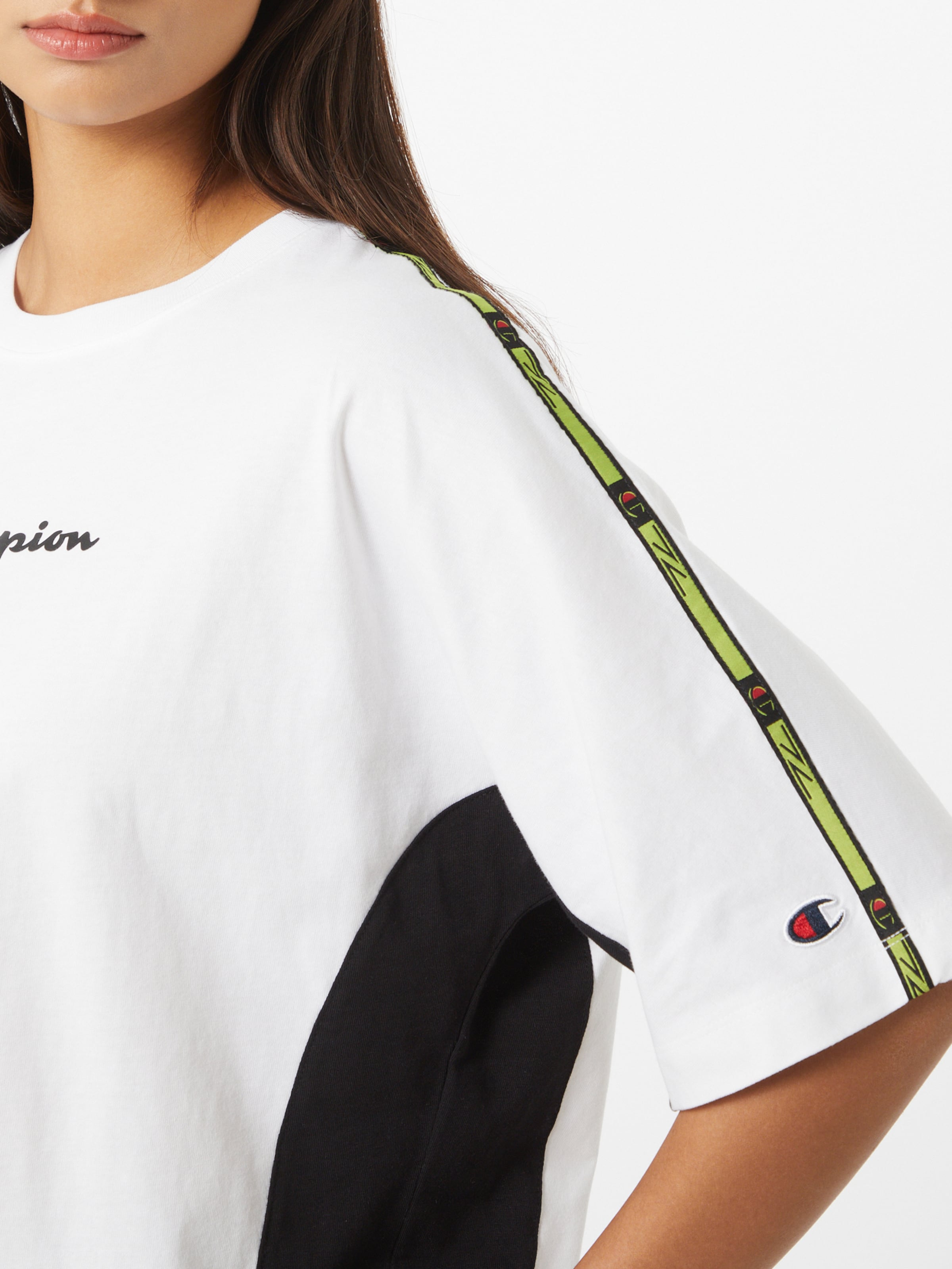 Champion Authentic Athletic Apparel Póló világoszöld / fekete / fehér színben