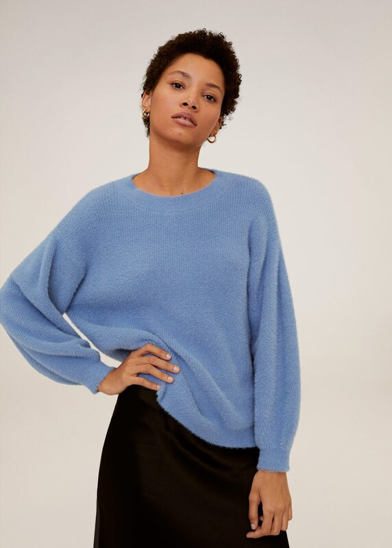 MANGO Pullover 'Platero' in himmelblau: Frontalansicht