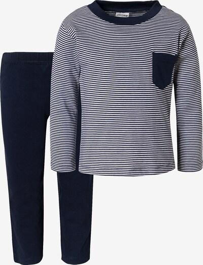 JACKY Schlafanzug in blau / dunkelblau / weiß, Produktansicht