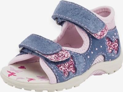 LURCHI Sandalen 'Mariza' in taubenblau / rosa, Produktansicht
