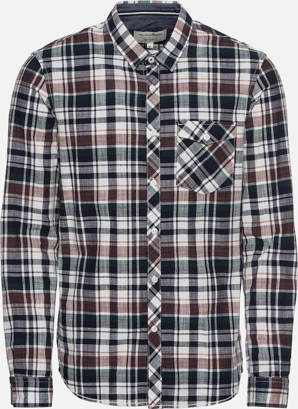 Donkergrijs 'fitted Shirt' Check Wit Overhemd Denim Rood In Tailor KlTJcuF31