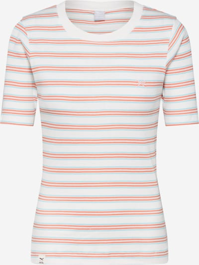 Iriedaily Shirt 'Mimie Tee' in orange / weiß: Frontalansicht