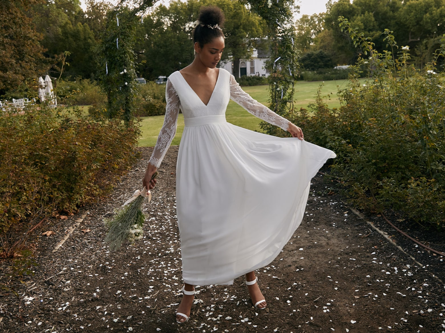 Carla - All White Wedding Look