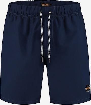 Shiwi Boardshorts 'Solid mike' i blå