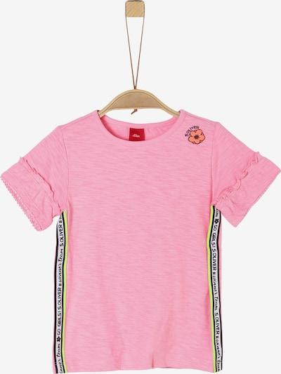s.Oliver T-Shirt in neongrün / orange / pink / schwarz / weiß, Produktansicht