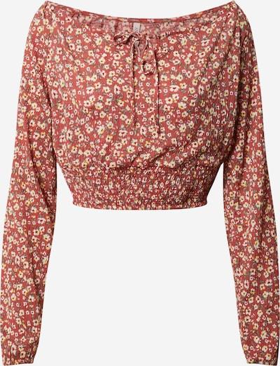 Tricou 'PELLA' ONLY pe roșu / alb, Vizualizare produs