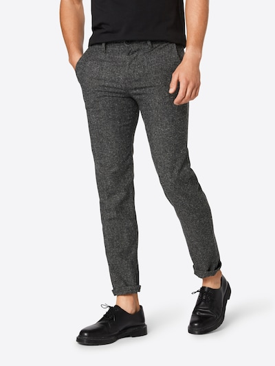 Pantaloni eleganți 'Schino-Tapered 10209697 01' BOSS pe gri închis / negru, Vizualizare model