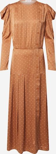 EDITED Šaty 'Thalisa' - světle hnědá / bílá, Produkt
