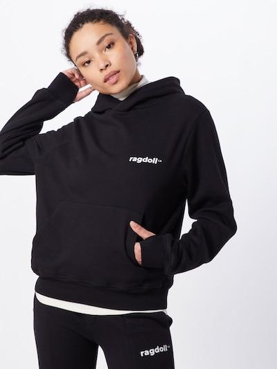 Bluză de molton 'Pull On Hoodie' Ragdoll LA pe negru, Vizualizare model