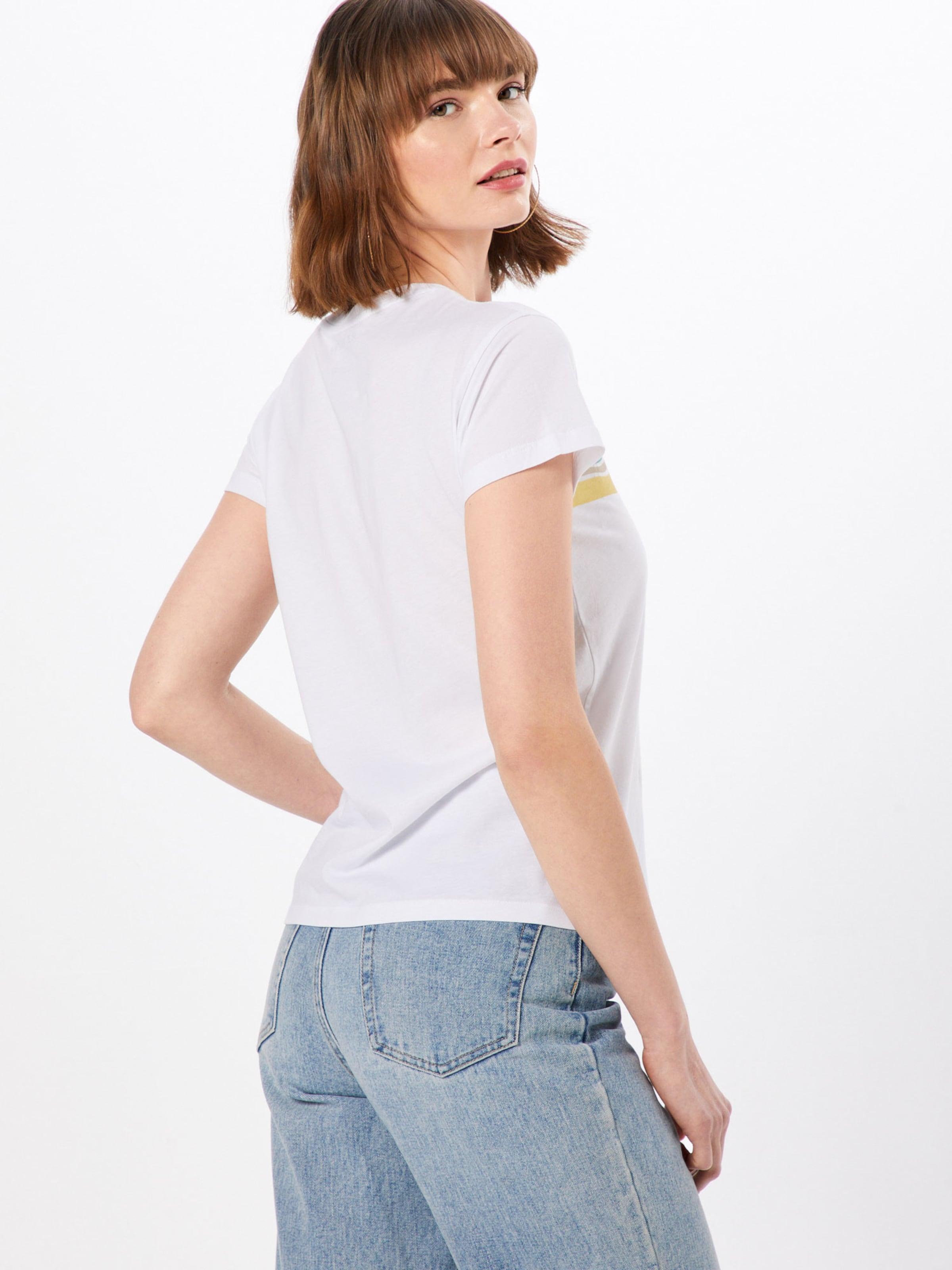 't Bleu T shirt FuméJaune Stripe' Blanc En Review Wave 3Jc5T1ulFK