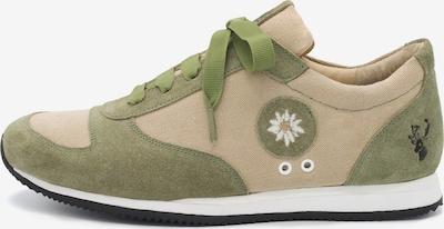 SPIETH & WENSKY Sneaker 'Lola' in dunkelbeige / oliv, Produktansicht